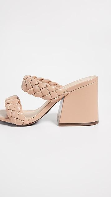 Schutz Elida 双固定带穆勒鞋