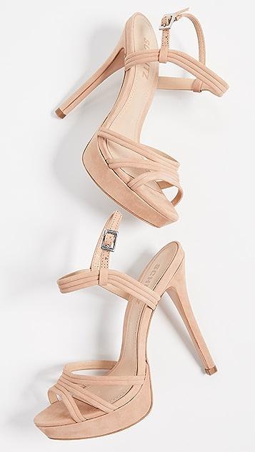 Schutz Bogga Ankle Strap Sandals