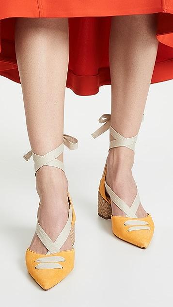 Schutz Туфли-лодочки Feba на шнуровке