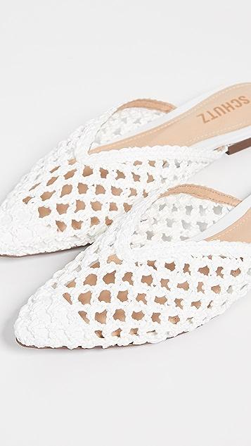 Schutz Туфли без задников Badria с остроконечным мыском