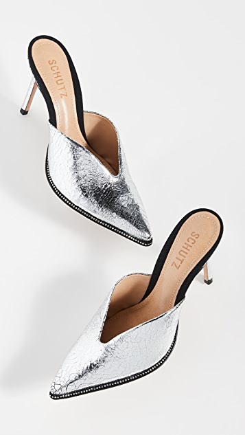 Schutz Heliconia Point Toe Mules