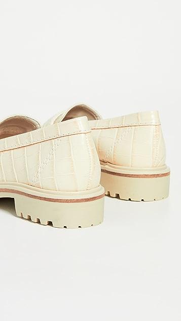 Schutz Kristine 沟纹鞋底平底鞋