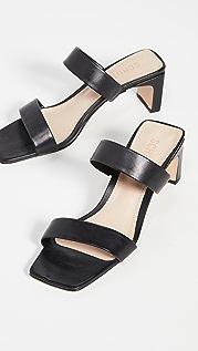 Schutz Pony Double Strap Sandals