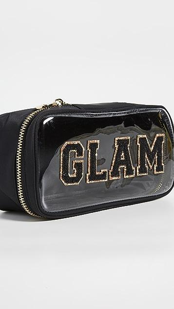 石质苜蓿巷 Glam 透明顶部开口手包