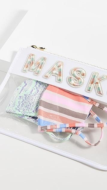 Stoney Clover Lane Clear Flat Masks Pouch