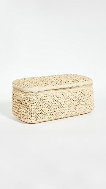 Stoney Clover Lane Woven Open Top Mirror Pouch