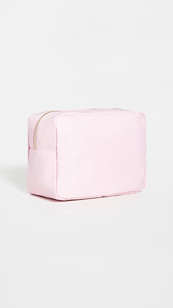 Stoney Clover Lane Flamingo Large Pouch with Puffy Iridescent Patches