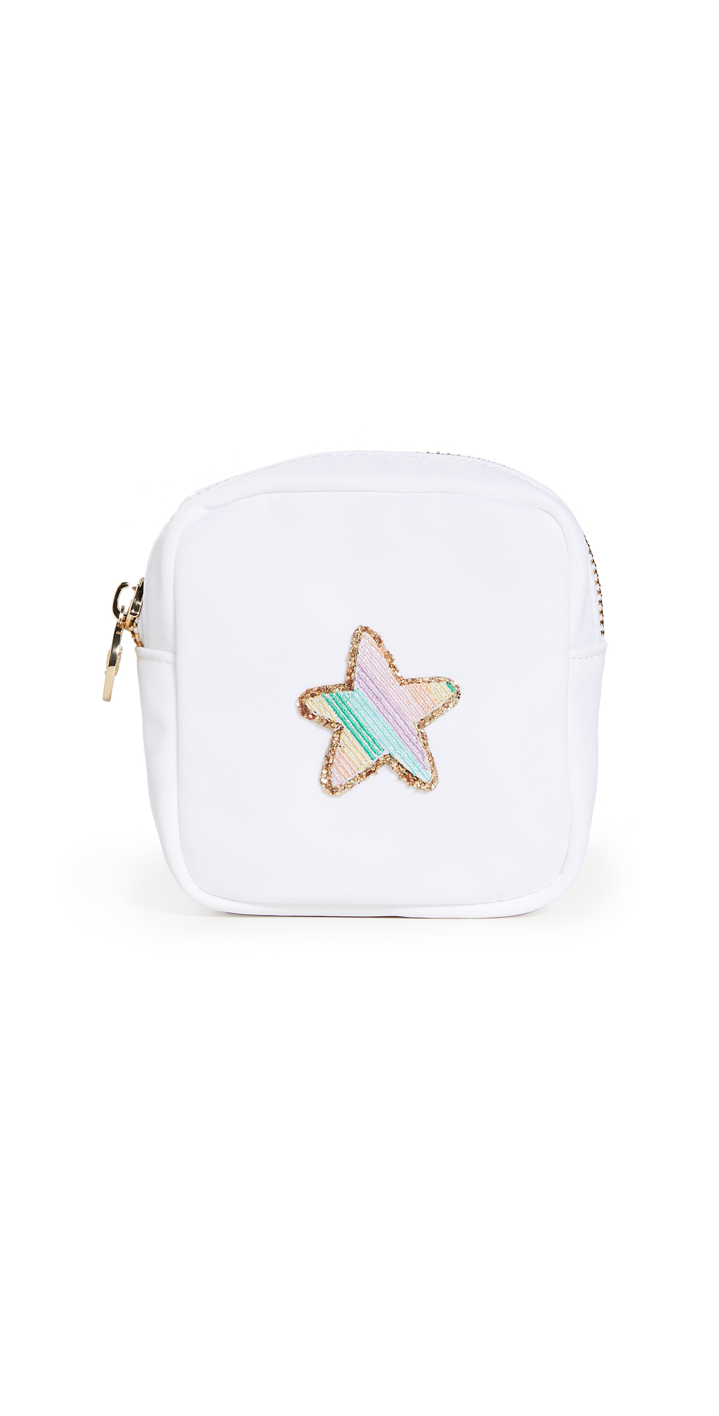 Stoney Clover Lane Blanc Mini Pouch with Rainbow Glitter Star Patch