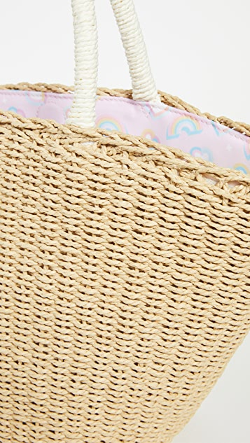 Stoney Clover Lane Malibu Barbie Woven Mini Basket Tote