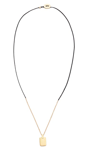 Scosha Tag Braid Necklace