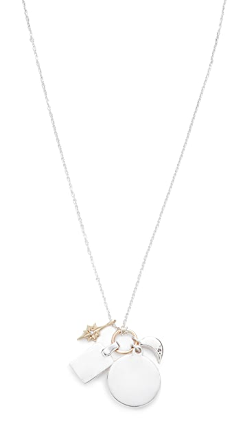 Scosha Sterling Silver Classic Charms Necklace