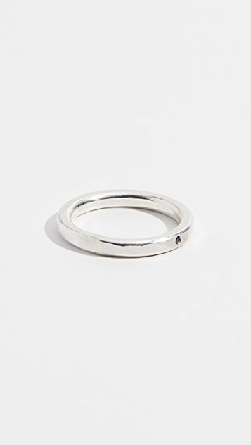 Scosha Simple Band Ring with Blue Sapphire