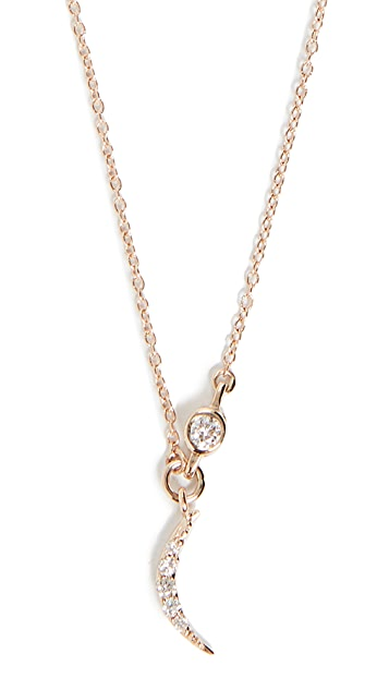 Scosha 14k Tiny Crescent Pendant Necklace