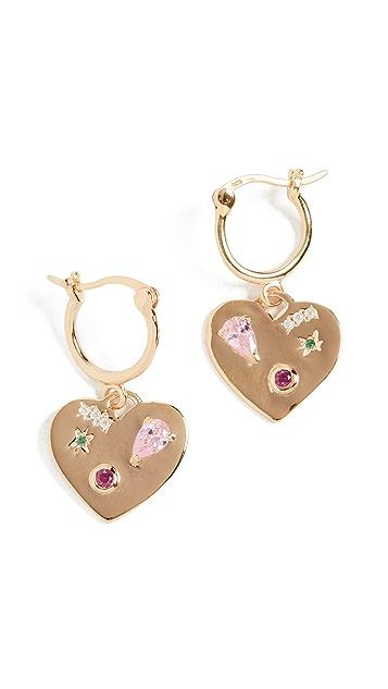 Scosha Night Market Heart Hoop Earrings