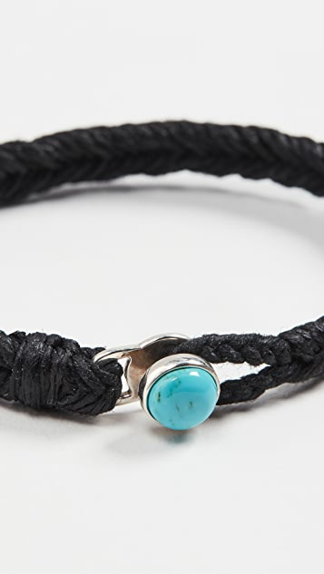 Scosha Turquoise Button Fishtail Bracelet