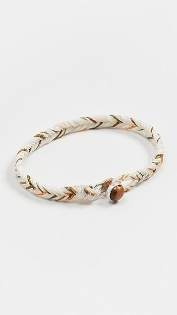 Scosha Tiger Eye Button Fishtail Bracelet