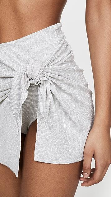 Sara Cristina 金属色包布裙