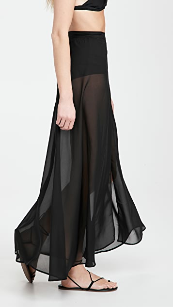 Sara Cristina Long Wrap Skirt