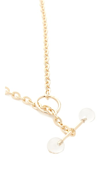 Saskia Diez Barbelle Necklace