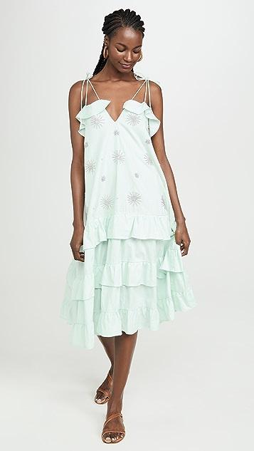SUNDRESS Пляжное платье с цветочным рисунком