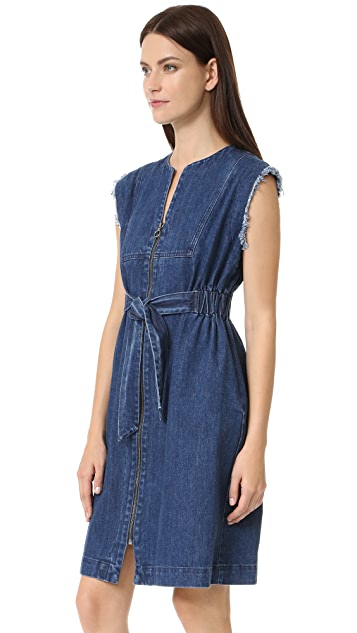 Sea Tied Denim Dress