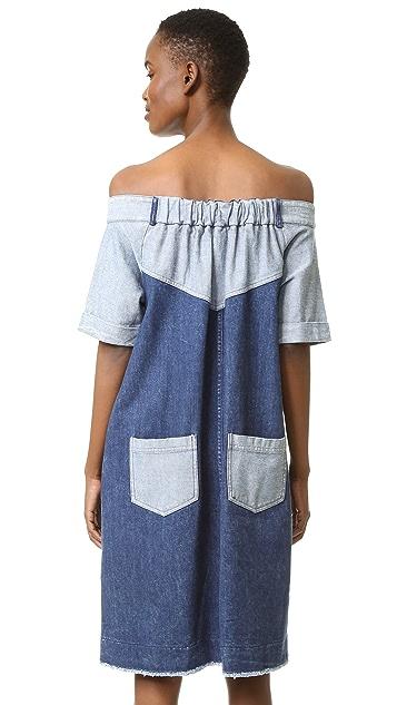 Sea Denim Off Shoulder Dress