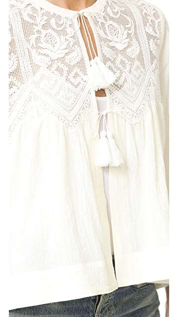 Sea Embroidered Top