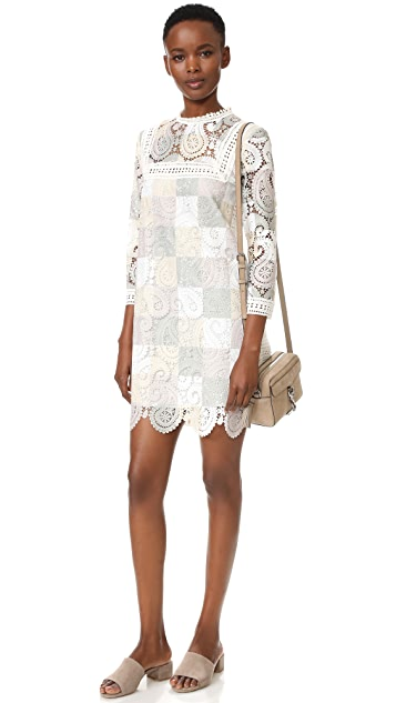 Sea Lace Contrast Dress