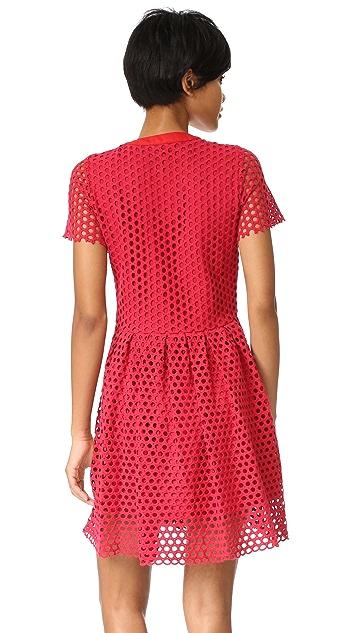 Sea Hole Punch Lace Dress