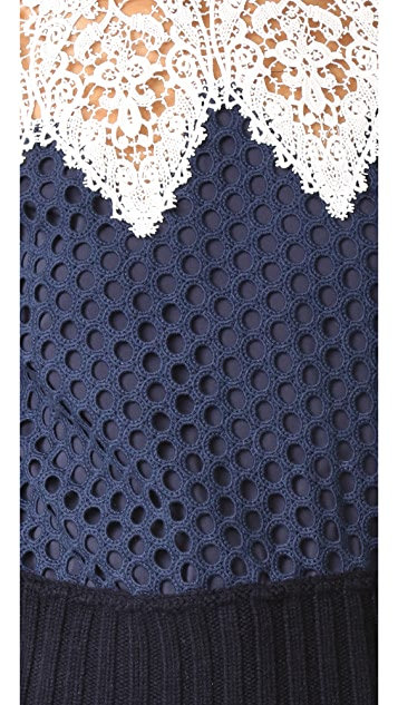 Sea Lace Hole Punch Top