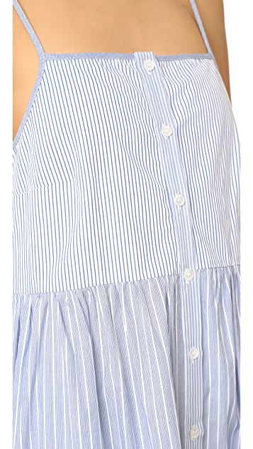 Sea Tiered Striped Dress