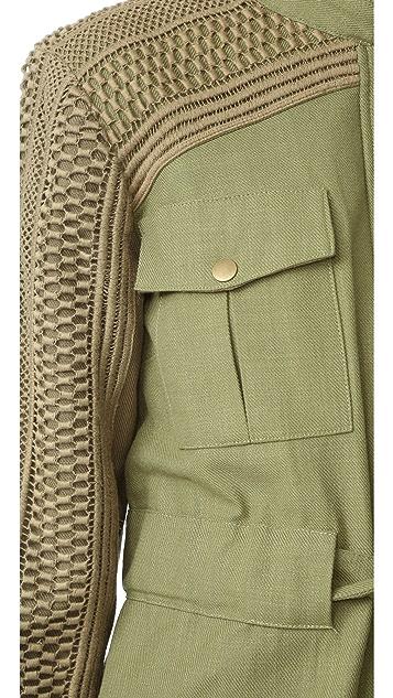 Sea Baja Lace Military Jacket