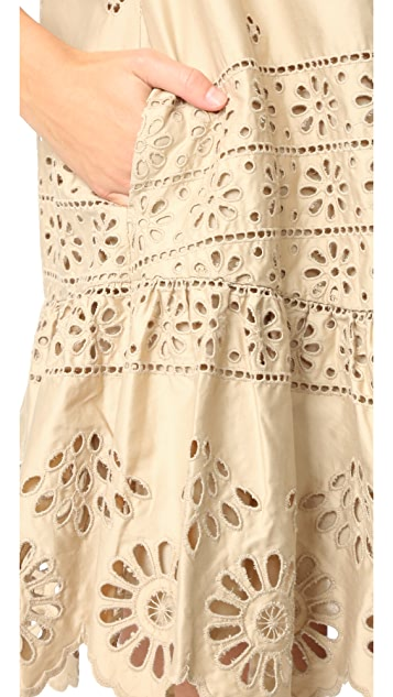 Sea Exploded Eyelet Dress