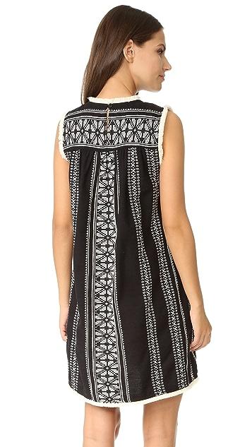 Sea Sleeveless Yarn Dye Dress