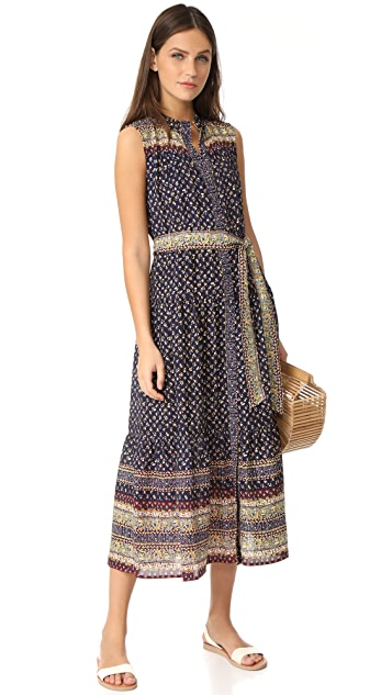Sea Belted Maxi Dress
