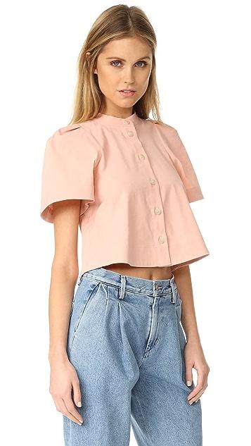 Sea Puffed Sleeve Shirt