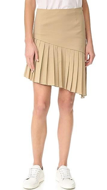 Sea Асимметричная плиссированная юбка