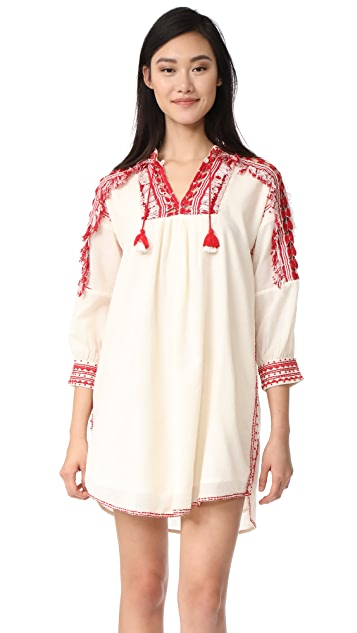 Sea Sarafan Fringe Tunic Dress