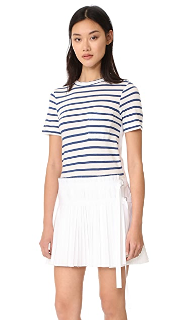 Sea T-Shirt Pleated Combo Dress