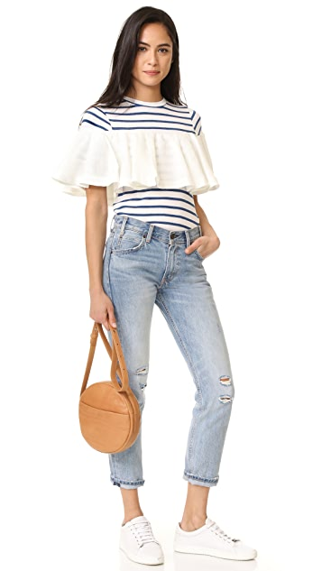 Sea Shirting Combo Ruffle Tee