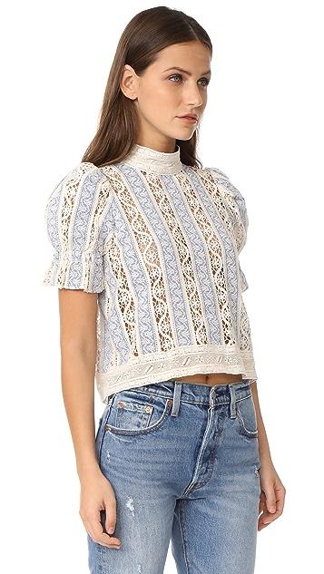 Sea Column Crochet Top