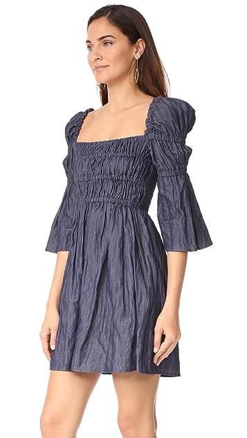Sea Empire Waisted Tunic Dress