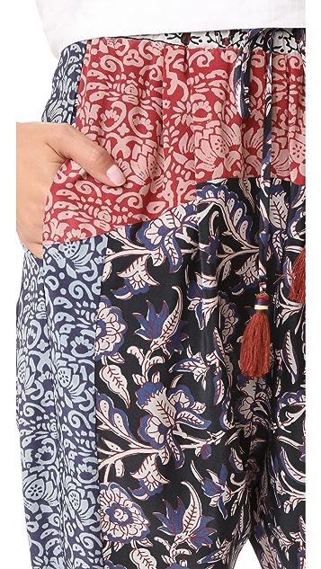 Sea Mix Print Pants