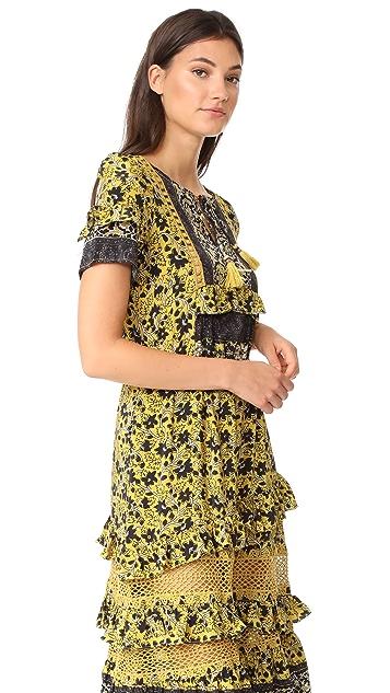 Sea Tiered Dress