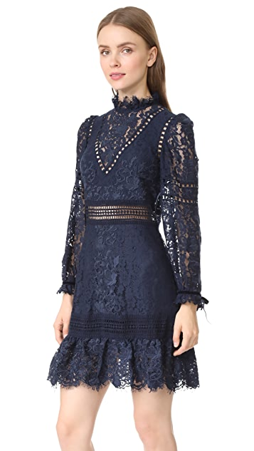 Sea Lace Embroidered Dress
