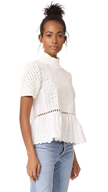 Sea Short Sleeve Sweater Top