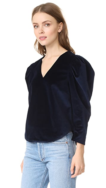 Sea Velvet Duchess Top