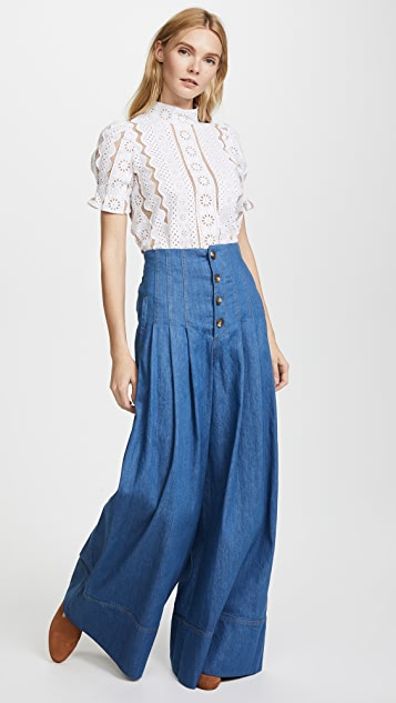 Sea High Waist Corset Pants
