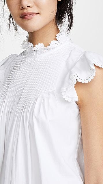 Sea Asymmetrical Pintuck Tunic Dress