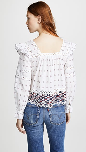Sea Colette Embroidered Top